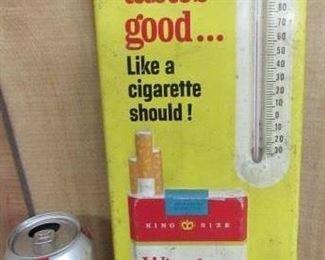 Metal Winston Cigarettes Thermometer