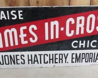 Metal Chick Hatchery Sign