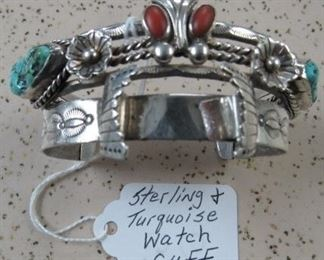 Sterling & Turquoise Watch Cuff