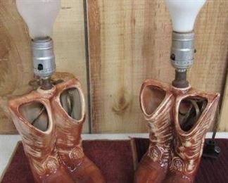 McCoy Cowboy Boots Lamps
