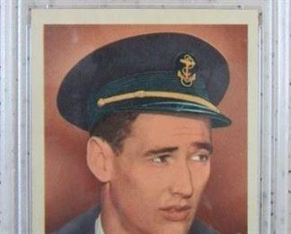 Graded 1959 Fleer Ted Williams Card - Williams Wins His Wings