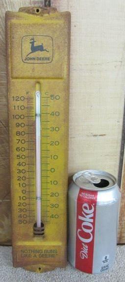 Metal John Deere Thermometer