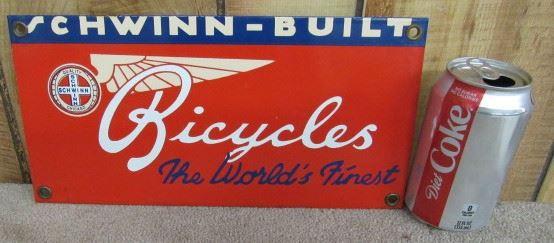 Porcelain Schwinn Bicycles Sign