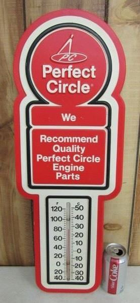 Vintage Plastic Automotive Advertising Thermometer