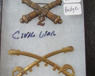 Civil War Crossed Sabres Badge/Pins