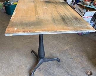 Vintage drafting table w/cast iron legs