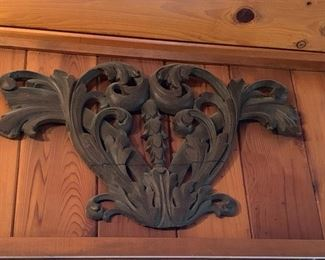 Large Architectural carved wood adornment