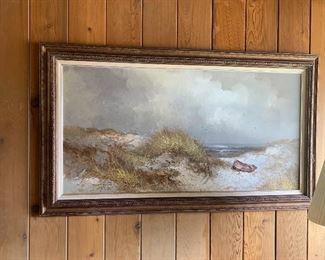 Karl Neumann oil painting on canvas beach and ocean scene
