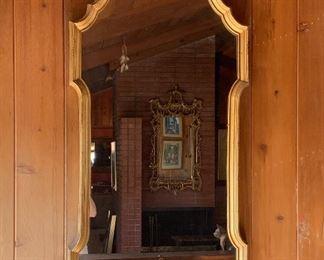 Elegant gilt framed mirror