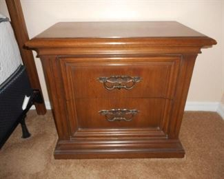 "Pair of wood nightstands - 25 1/2"" tall.           https://ctbids.com/#!/description/share/209072"