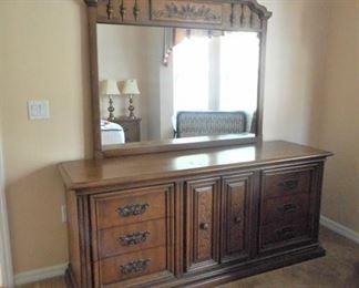 "Triple dresser w/mirror - 2 pc. 72""w x 20""d x 43""t https://ctbids.com/#!/description/share/209081"