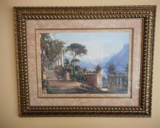 Large double matted & framed scenic print https://ctbids.com/#!/description/share/209093