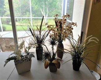 Lot of 5 faux floral arrangements  https://ctbids.com/#!/description/share/209096