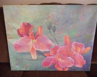 "Print of Iris' on canvas - 28"" x 22"" https://ctbids.com/#!/description/share/209120"