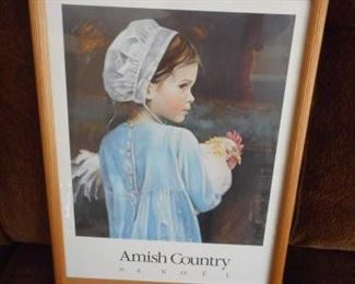 "Signed print of ""Amish Country"" by N.A. Noel - framed https://ctbids.com/#!/description/share/209121"
