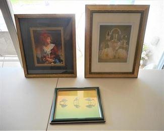 Lot of 3 prints framed & matted https://ctbids.com/#!/description/share/209132