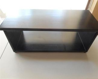 "Black wood TV stand - 26"" wide           https://ctbids.com/#!/description/share/209201"