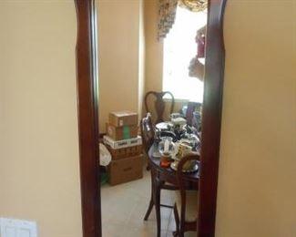"""Wood mirror w/shell motif - 34"""" tall https://ctbids.com/#!/description/share/209288"""