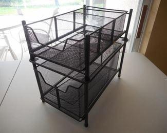 Under cabinet stackable sliding drawers - 16 x 10 1/2 x 15tall               https://ctbids.com/#!/description/share/209289