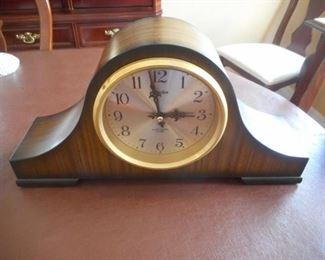 "Linden electronic chime mantel clock - 17"" wide https://ctbids.com/#!/description/share/209297"
