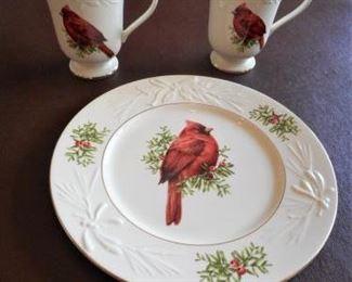 Lenox - Cardinals 2 mugs & plate https://ctbids.com/#!/description/share/209331