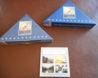 "Lot of 2 ""Light of Freedom"" flags by Thomas Kincaid - life story CD https://ctbids.com/#!/description/share/209332"