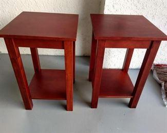 """Pair of wooden tables - 22"""" tall https://ctbids.com/#!/description/share/210024"""