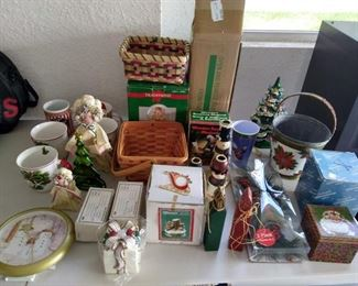 Lot of 32 pc Christmas items - water globes, boxes, mugs more       https://ctbids.com/#!/description/share/210030