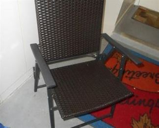 Lot of 2 dark brown patio chairs https://ctbids.com/#!/description/share/210479