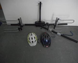 Very nice vehicle double bike rack w/2 helmets https://ctbids.com/#!/description/share/210490