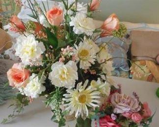 """2 faux flower arrangements, tallest 26"""" https://ctbids.com/#!/description/share/210502"""