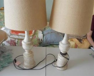 Pair of beige lamps with burlap shades https://ctbids.com/#!/description/share/210506