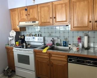 Nice quality cabinets & appliances
