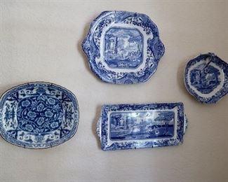 Blue & White Dishes - Spode