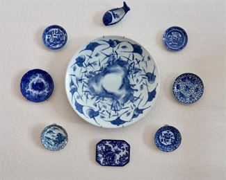 So many beautiful Blue & White Dishes and Glassware