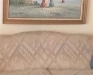 Couch and oil painting