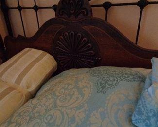 headboard of vintage bed