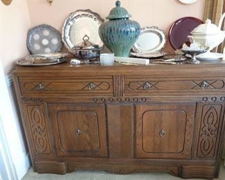 vintage buffet/silver plate