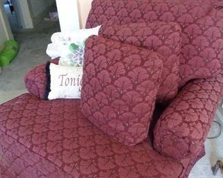 side chair w/2 cushions