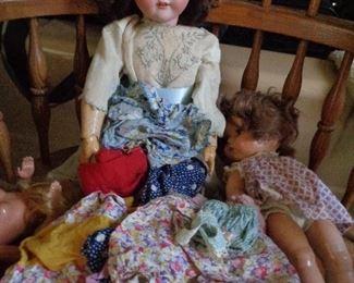vintage doll, several dolls