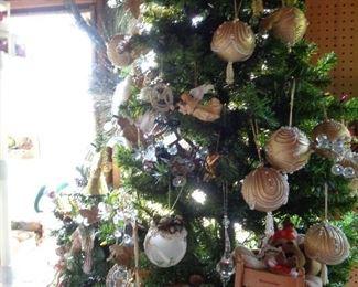 several trees & ornaments