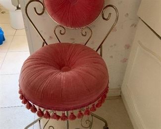 Adorable pink adjustable height stool