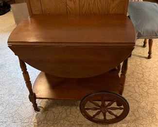 Maple tea cart