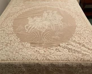 Lace and tulle full size bedspread