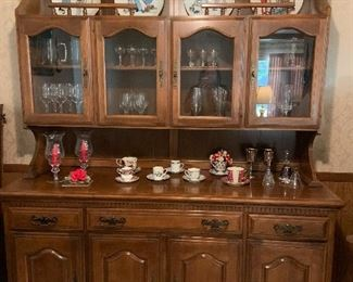 Beautiful solid maple china hutch