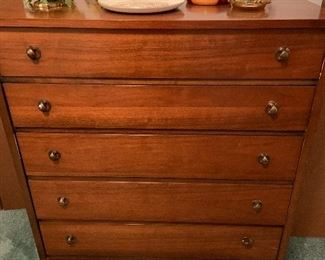 Mid century modern 5 drawer chest
