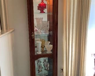 Lighted curio cabinet