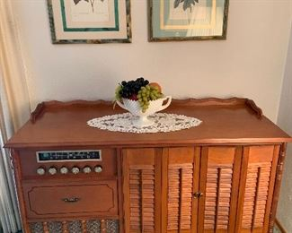 Curtis Mathes tv, stereo cabinet.