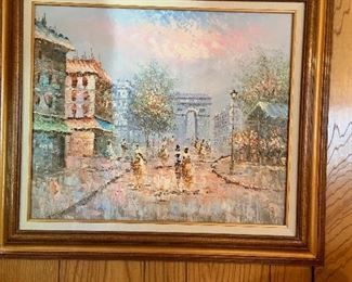Paris scene wall art