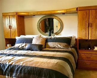 King sized headboard, Piers, matching Armoire, hi boy chest of drawers and double dresser